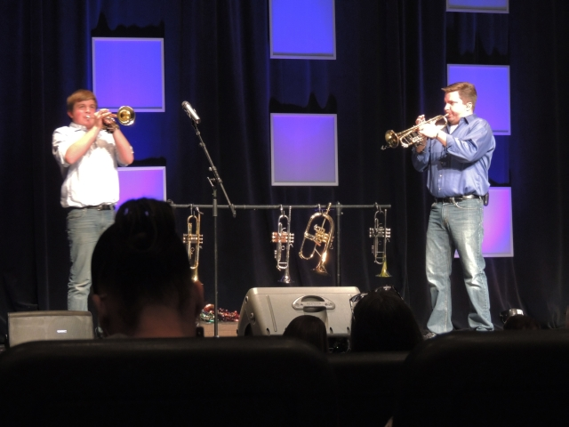 Chiz and his son Chase playing a duet at a concert !!!!